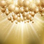 节日气球和光晕