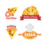 创意披萨店标签