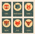 可爱动物头像卡片