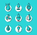 创意水滴图标