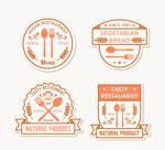 创意餐厅标签