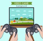 玩电子游戏的手臂