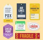 彩色行李牌设计