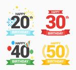 生日数字和条幅