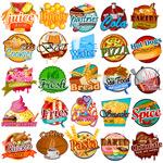 彩色食物标签
