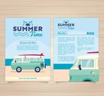 夏日假期宣传单