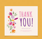 花朵感恩卡片