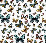蝴蝶无缝背景