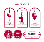 葡萄酒标签矢量