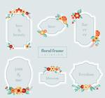 卡通花卉框架