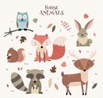 彩绘森林动物