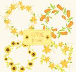 黄色花环设计