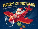 开飞机的圣诞老人