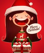圣诞女孩祝福