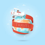 旅行飞机和地球