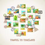 泰国风情旅行邮票