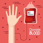 卡通献血的手臂