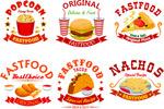 快餐食品标签