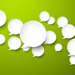 白色语言气泡群