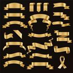 金色丝带条幅