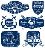 复古航海标签矢量