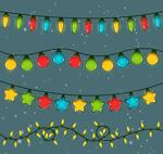 彩色节日灯串