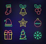 霓虹灯圣诞节图标