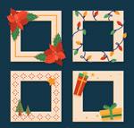 圣诞元素照片边框