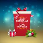 圣诞新年礼物盒