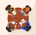 商务会议俯视图