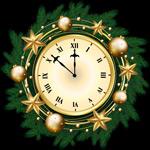圣诞时钟矢量