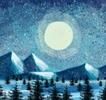 冬季雪山森林