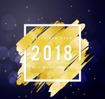 墨迹2018年贺卡