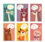 动物新年快乐卡片