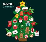 圣诞月月历矢量