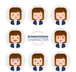 商务女子表情头像