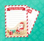 圣诞信纸信封矢