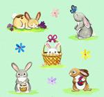 可爱彩绘兔子