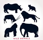 动物剪影矢量