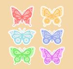 蝴蝶贴纸矢量