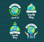 世界地球日标签