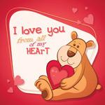 情人节卡通熊
