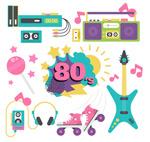 彩色80年代元素