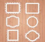 蕾丝花纹框架