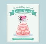 婚礼蛋糕邀请卡