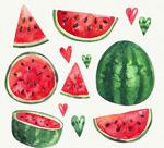 新鲜西瓜和爱心