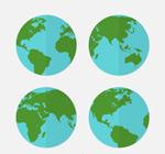 扁平化蓝色地球