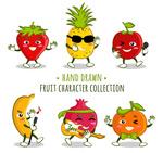 卡通表情水果