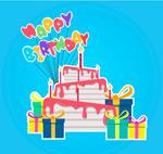 彩色生日蛋糕