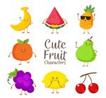 可爱彩色水果